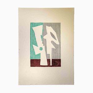 Leo Guide, Komposition, Radierung, 1970er
