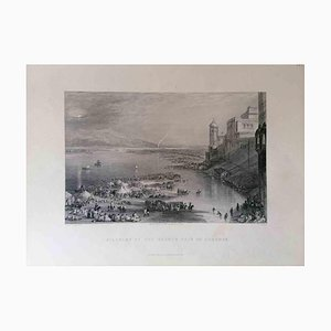Unknown, Pilgrims at the Sacred Fair of Hurdwar, Lithograph, Mid 19th Century