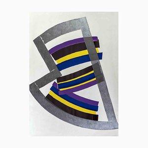 Luigi Montanarini, Abstract Composition, Original Lithographie, 1970er