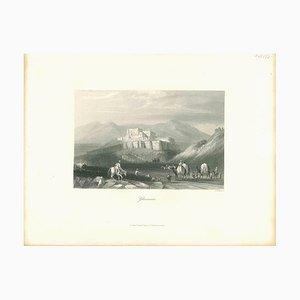 Ghuznee, Original Lithographie, Mitte 19. Jh