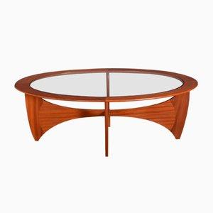 Tavolino da caffè Astro ovale in teak e vetro di Victor Wilkins per G-Plan