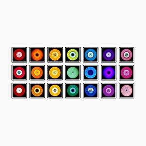 Vinyl Collection 21 Piece Rainbow Installation, Pop Art Color Photography, 2014-2020