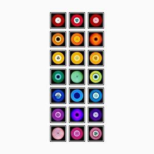 Vinyl Collection 21 Piece Rainbow Installation, Pop Art Color Photography, 2014-2021