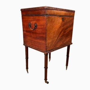 Early Regency Mahogany Cellarette Side Table, 1810s