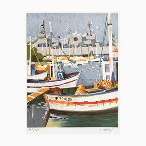 Le port de Toulon by Georges Palmieri