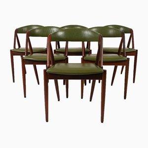Chaises de Salle à Manger en Palissandre par Kai Kristiansen pour Schou Andersen, Danemark, 1960s, Set de 6