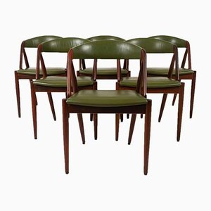 Danish Modern Rosewood Dining Chairs by Kai Kristiansen for Schou Andersen, 1960s, Set of 6