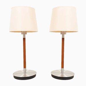 Skandinavische moderne Tischlampen von Belid, 1970er, 2er Set
