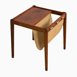Danish Rosewood Side Table with Magazine Holder from Furbo, 1960s