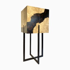 Fracture Cabinet in Maple Burr and Ebony Marquetry by D.Driani Creation
