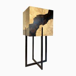 Mobiletto in radica di acero ed ebano di D.Driani Creation