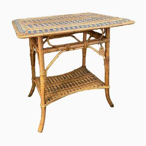 French Rattan Table