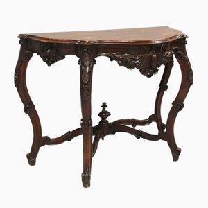 Table Console Louis Philippe en Noyer, Italie, 19ème Siècle