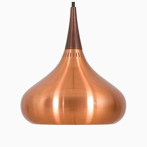 Copper Orient Hanging Pendant Lamp by Jo Hammerborg for Fog & Morup