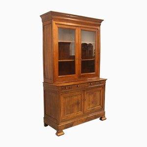 Antique Louis Philippe Walnut Bookcase or Showcase, 19th-Century