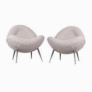 Lounge Chairs with Dedar Boucle Fabric by Fritz Neth for Correcta, 1950s, Set of 2