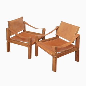 S10X Lounge Chairs by Pierre Chapo, Set of 2