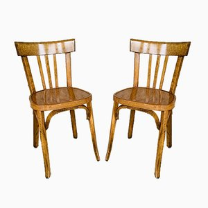 No. 43 Bistro Chairs from Baumann, 1950s, Set of 2