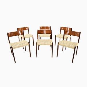Skandinavische moderne Teak Pia Stühle von Poul Cadovius, Dänemark, 1960er, 6er Set