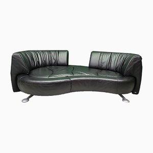 Vintage Black Leather DS 164 Sofa from De Sede