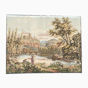 Vintage French Aubusson Style Tapestry, 1980s