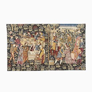 Vintage French Aubusson Style Tapestry, 1970s