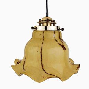 Murano Glass and Brass Pendant Light from Peill & Putzler, 1970s