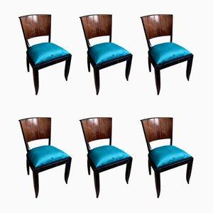 Art Deco Macassar Ebony Dining Chairs, 1935, Set of 6