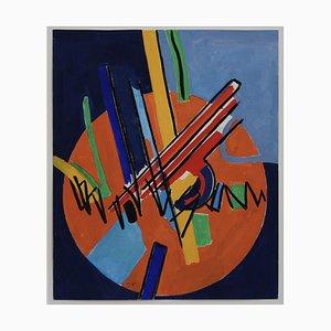 Komposition mit Kreisen III, James Pichette, 1970er, Gouache auf Papier