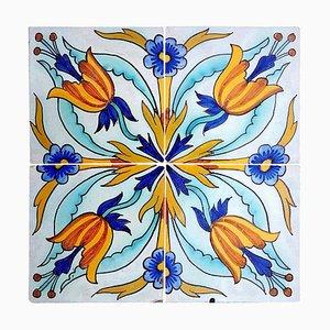Handmade Antique Ceramic Tile from Devres, France, 1910s