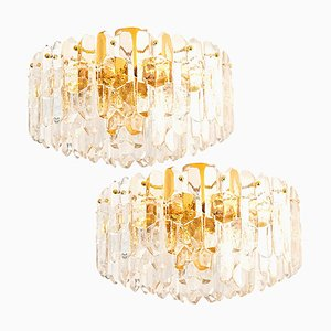 Palazzo Light Fixtures in Gilt Brass and Glass