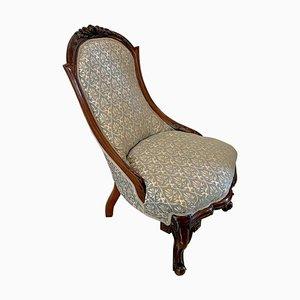 19th Century Victorian Carved Walnut Chair