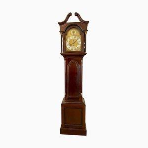 Antique Mahogany Eight Day Grandfather Clock