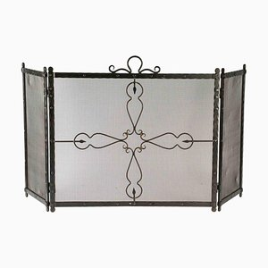 Wrought Iron Fire Screen, Early 20th Century