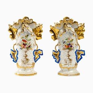 Paris Porcelain Vases, 19th Century, Set of 2