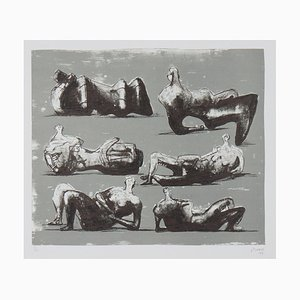 Henry Moore, Six Reclining Figures, Lithograph, 1973