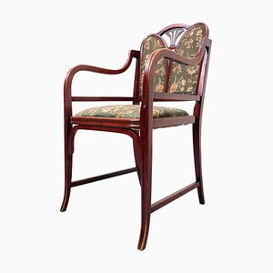 Bentwood Armchair in Beech and Fabric from Thonet, 1930s
