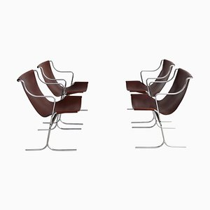 Italian Lounge Chairs by Ross Littell for ICF Milan, 1960s, Set of 4