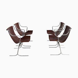 Italienische Sessel von Ross Littell für ICF Milan, 1960er, 4er Set