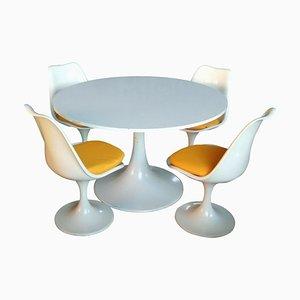 Tisch und 4 Stühle im Tulip Design von Eero Saarinen für Play Italia, 1970er, 5er Set