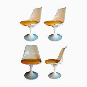 Chaises Tulipe Eero Saarinen Production Play Italia, 1970s, Set de 4