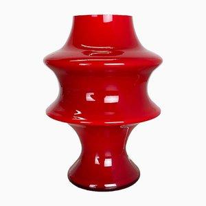 Red Glass Mushroom Table Lamp from Hustadt Leuchten, Germany, 1970s