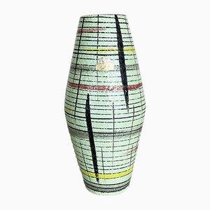 Colorful Fat Lava Ceramic 307-25 Vase from Bay Keramik, Germany, 1950s