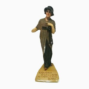 Plaster Advertising Figure of Pier Renato Pegoraro for Anaclerio Bari by Peko, 1920s