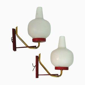 Lampade da parete, anni '60, set di 2