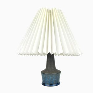 Small Table Lamp in Blue and Grey by Nils Kähler, Denmark, 1960s