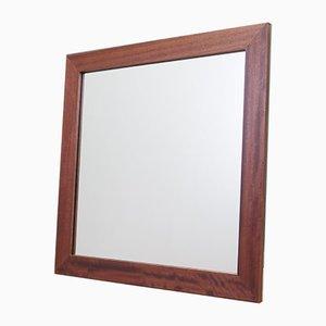 Mahogany Framed Mirror, Denmark, 1970s