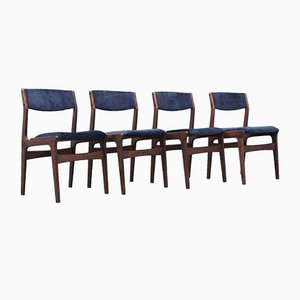Oak Chairs from Nova, Denmark, 1970s, Set of 4