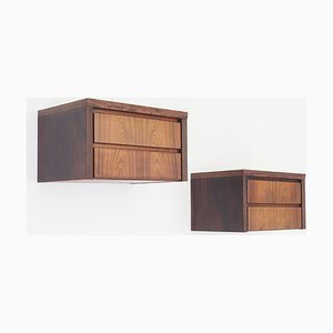Rosewood Wall Units, Denmark, 1960s, Set of 2