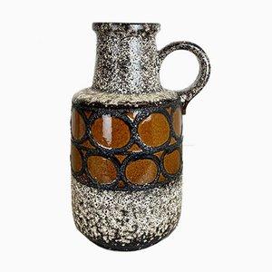 Große mehrfarbige Fat Lava Keramik 408-40 Bodenvase von Scheurich, 1970er